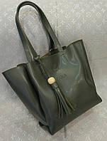 Женская сумка копия Zara качественная эко-кожа серая