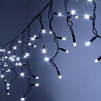 Гирлянда Бахрома 10 м - цвет свечения белый - светодиодная уличная гирлянда (Айс-Лайт) - (10х0.5)