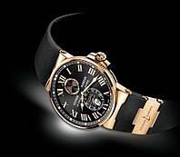 Мужские механические часы Ulysse Nardin (Улис Нардин) золото-черные