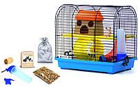 Клетка для хомяка, мыши, грызунов+опилки+корм 5