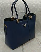 Сумка женская Prada Прада качественная эко-кожа синяя