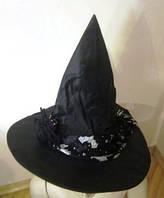 Колпак ведьмы чёрный с паучком