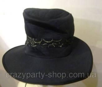 Шляпа цилиндр мягкий с лентой