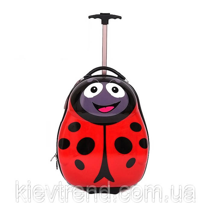 """Детский дорожный чемодан на колесах """"Божья коровка"""""""
