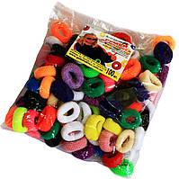 Резинки для волос (25mm/100шт) цветные, фото 1