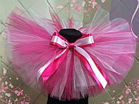 Детская юбка пачка малиново-розовая