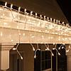 Тепло белая Уличная Гирлянда Бахрома  на белом каучуковом проводе 3 x 0,5 м переходник