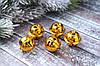 """Бубенец новорічний великий із зірочкою кольору """"золото"""", 3 см"""