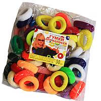 Резинки для волос (50шт) цветные, фото 1