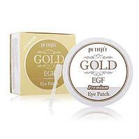 Гидрогелевые патчи от морщин вокруг глаз с золотом и EGF  PETITFEE Premium Gold & EGF Eye Patch, оригинал