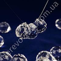 """Подвеска-кристалл """"Шарик огранка"""", 2.9×3.2 см, 10 шт."""