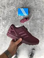 Кроссовки Adidas ZX Flux Бордовые 36-40 рр.