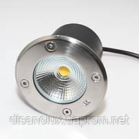 Cветильник грунтовый QR-01 LED COB 12W 230в размер:D100 * 83 мм  IP 67  6000К, фото 2