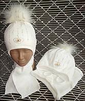 Теплые зимние комплекты шапка+хомут, фото 1