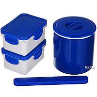 Ланч бокс с термосом A-PLUS 0.5 л (1670) Синий