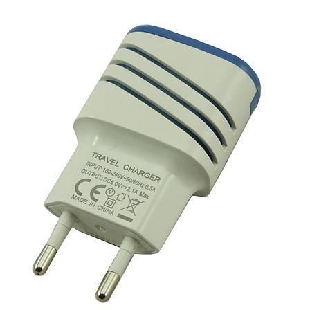 Адаптер  на 2 USB 5v 2,1a   046, фото 2