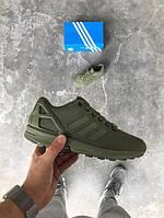 Кроссовки Adidas ZX Flux Оливковые 38-44 рр.
