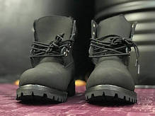 Женские ботинки Timberland Black на меху топ реплика, фото 2