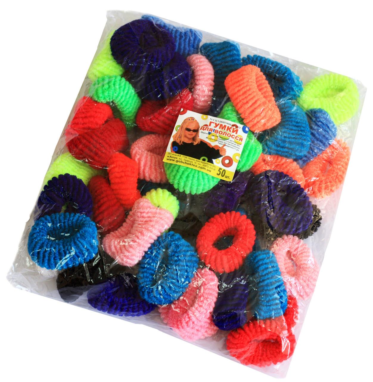 Резинки для волос (100шт) цветные