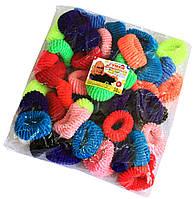 Резинки для волос (100шт) цветные, фото 1