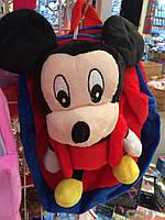 Рюкзак мягкий с игрушкой Микки Маус, сьемная игрушка