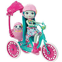 Прогулка на велосипеде с Тайли и черепашкой, Хобби на колесах, Enchantimals, Mattel