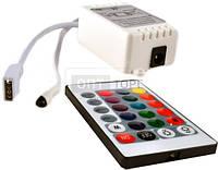 Контроллер для светодиодных лент OEM Контролер RGB OEM  6А-IR-24 кнопки, шт