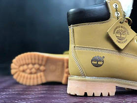 Мужские ботинки Timberland Yellow на меху топ реплика, фото 3