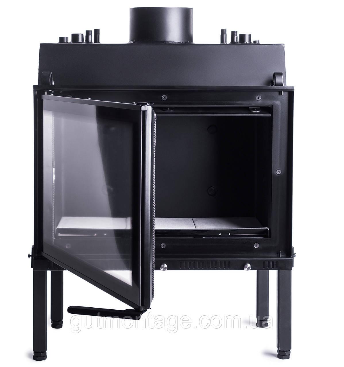 Камин вместо котла на дровах. Жарко Aqva-750 Lux 9кВт. Для закрытых систем.