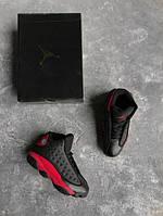 Кроссовки мужские Air Jordan 13 Black Red 15431 черные