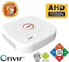 Гибридный видеорегистратор 4 канальный 1080N, 5 в 1 LONGSE XVR2004PGH