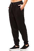 Мужские спортивные теплые  штаны 375 черные