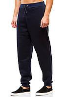 Мужские спортивные теплые  штаны 375 темно-синие