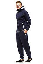 Теплый мужской костюм 374 темно-синий