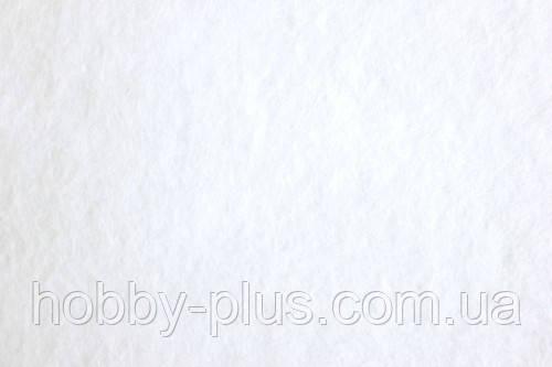 Фетр корейский мягкий, 1.2 мм, 20x30 см, БЕЛЫЙ