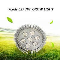 Фитолампа для растений 7W 7LED Е27