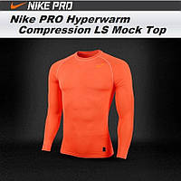 17c0c74f Термо-компрессионное белье Nike Pro Hyperwarm Light Compression LS Mock Top