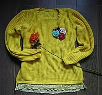 Текстильная брошь из цветов - Ягодная