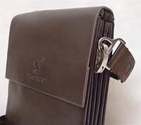 Мужская сумка на плечо Bradford 886-3 коричневая искусственная кожа, фото 1