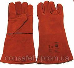 Перчатки СА615К спилковые с подкладкой, кевларовая нить