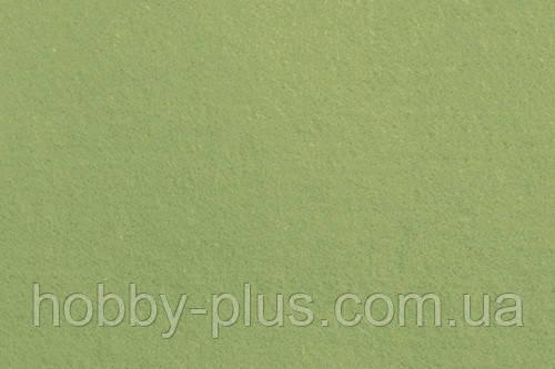 Фетр корейский мягкий, 1.2 мм, 20x30 см, ТРАВЯНОЙ