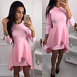 Женское модное платье с удлиненной баской (3 цвета), фото 2