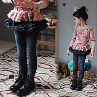 Детские джинсы с юбкой для девочки