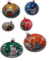 """Новогодние пластиковые шары""""Снеговик"""" 8см"""