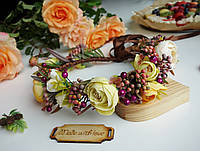 Веночек ободок из цветов - Золотая осень