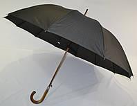 """Черный зонтик-трость с куполом 115 см. на 12 карбоновых спиц от фирмы """"SUSINO"""""""
