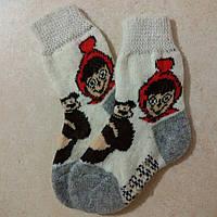 Детские теплые носки Маша и Медведь 16 см, зимние новогодние носочки
