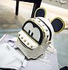 Рюкзак женский трансформер Mickey Mouse кожзам с ушками Бежевый, фото 6