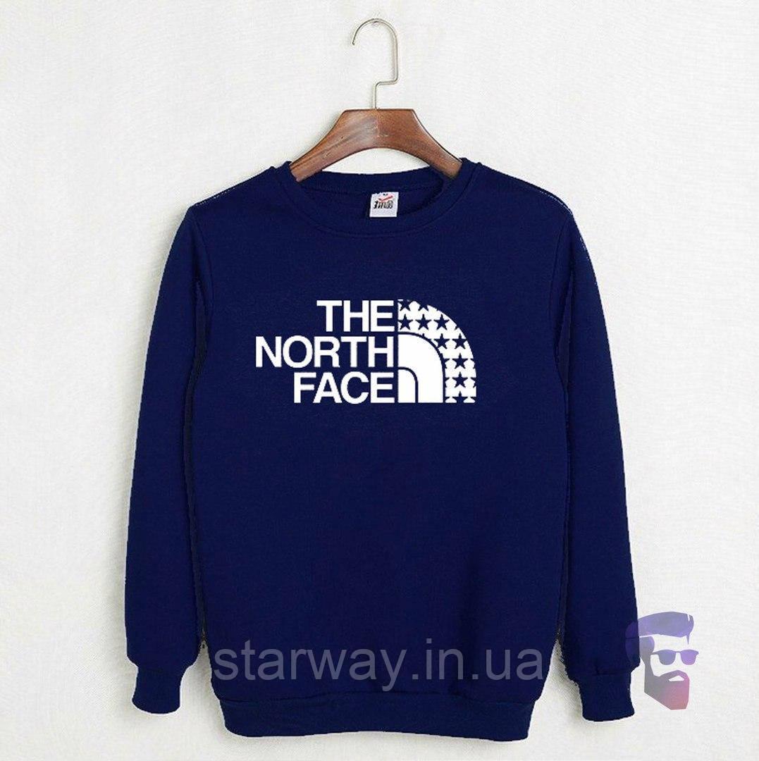 Світшот темно-синій The North Face зірки лого | стильна Кофта