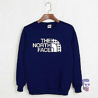 Свитшот тёмно-синий The North Face звёзды лого | Кофта стильная